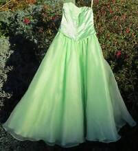 Strapless lime-green bridesmaid's dress or ballgown, size 6-8 Hahndorf Mount Barker Area Preview