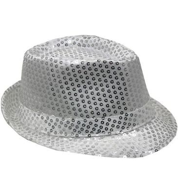 Mozlly Mozlly Glamorous Sequin Fedora Hat Flashing Disco Retro Funky Glitter Spa - Sequin Fedora