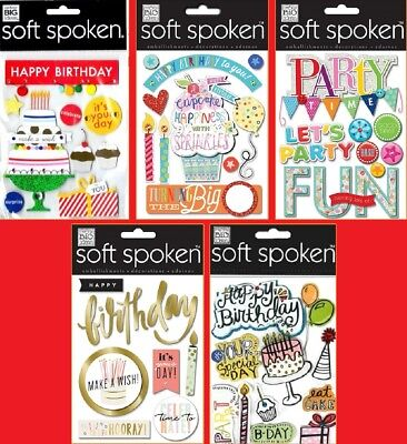 U CHOOSE Me & My Big Ideas MAMBI Soft Spoken BIRTHDAY & PARTY Stickers Cake - Birthday Scrapbook Ideas