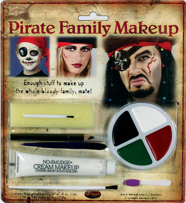 Morris Costumes Unisex Pirate Swashbuckling Family Makeup Kit. FW9475P - Pirate Family Costumes