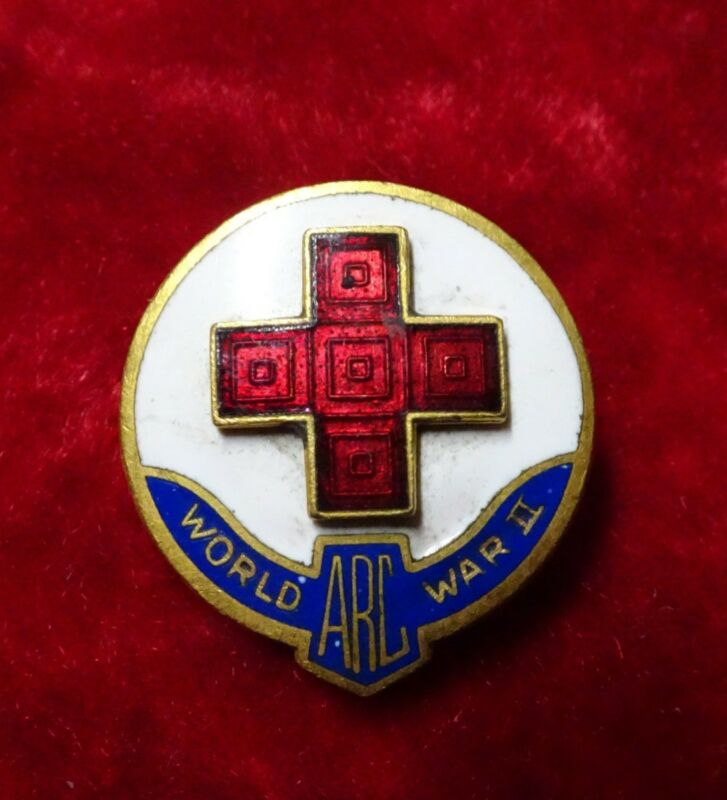 WWII American Red Cross Domestic Service Pin ARC