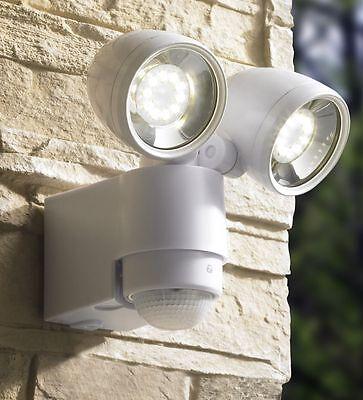 LED Strahler mit Bewegungsmelder Wandstrahler Außenleuchte Spot 127-1 Weiß BWare