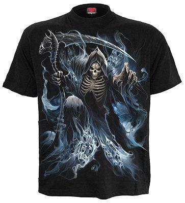 SPIRAL DIRECT GHOST REAPER T-Shirt/Death/Metal/Skull/Souls/Dark Ghost /Tees/Top (Ghost Death)