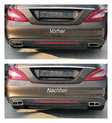 Chrom Edelstahl Auspuffblende Mercedes W212 S212 X204 C218 X218 C207 A207 (212)