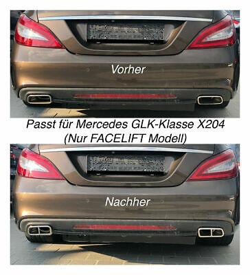 Top Chrom Edelstahl Auspuffblende Für Mercedes GLK-Klasse X204 Nur FACELIFT (212