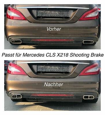 Top Chrom Edelstahl Auspuffblende Für Mercedes CLS X218 Shooting Brake (212