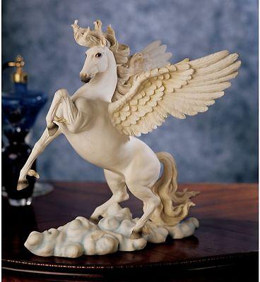 "11.5"" Greek Mythology Poetic Pegasus Flying Horse Equestrian Statue Sculpture"