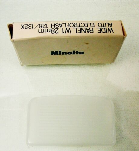 Wide Panel & PC Cord | For Minolta 128/132X Flashes | NOS | New | $12 |