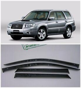 For Subaru Forester 2002-2008 Side Window Visors Sun Rain Guard Vent Deflectors