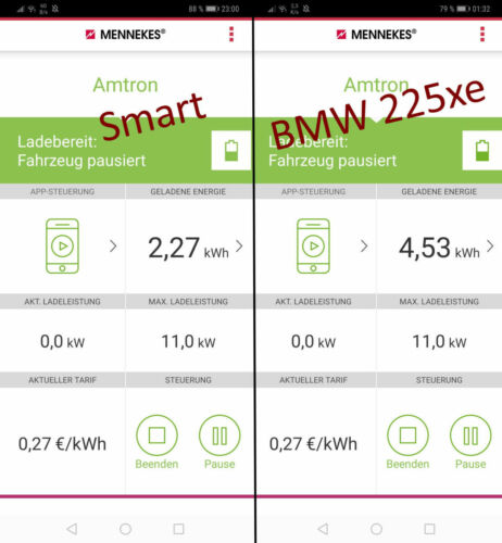Screenshot mennekes homecharger