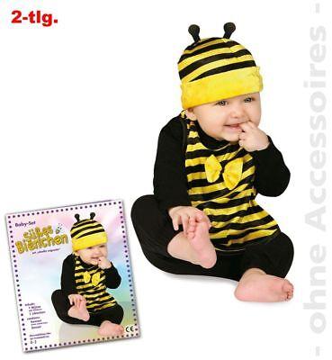 Fri -Baby Kostüm Biene Mütze Lätzchen Karneval Fasching 0 bis 2 -