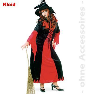 Fri -Plus Size Damen Kostüm Hexe rot-schwarz Halloween  ()