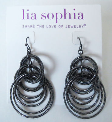 Lia Sophia Jewelry Voltage Earrings In Black Rv 36