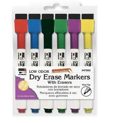 Charles Leonard Magnetic Dry Erase Markers Assorted Pack Of 6 Ra172