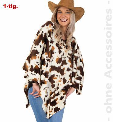 Fri - Damen Kostüm Poncho Western Cowgirl Karneval Fasching Party