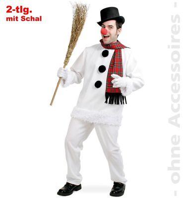 Fri -Herren Kostüm Schneemann mit Schal Karneval Fasching - Herr Schneemann Kostüm