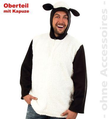 Fri -Unisex Kostüm Schaf Lamm Oberteil Karneval Fasching -