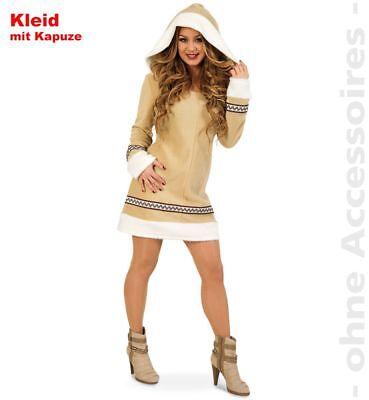 Fri -Damen Kostüm Eskimo Inuit Kleid Karneval Fasching (Eskimo Damen Kostüm)