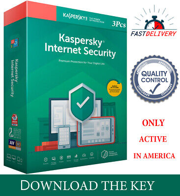 Kaspersky INTERNET Security 2020  3PC/ 3 DEVICE/1 Year /REGION- AMERICAS 13.15$ for sale  Shipping to Nigeria