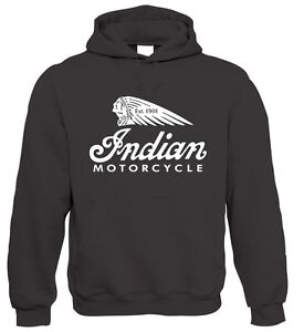 Indian Classic Motorcycle Hoodie - American Biker Harley - All Sizes 4XL 5XL