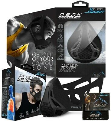Aduro Sport Peak Resistance Workout Training Mask High Altitude Face Air Mask