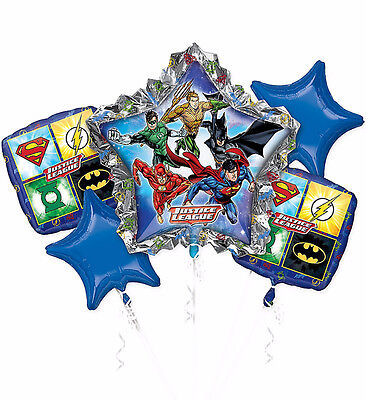 Justice League DC Super Heroes Balloon Bouquet Boy's Birthday Party Decoration - Justice League Party