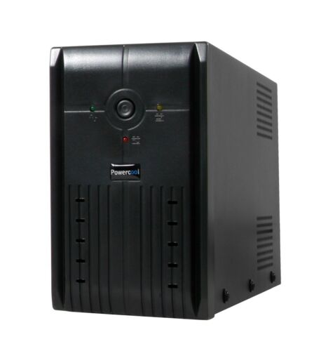 Powercool Smart UPS 650VA 2 x UK Plug, RJ45 x 2, USB LED Display