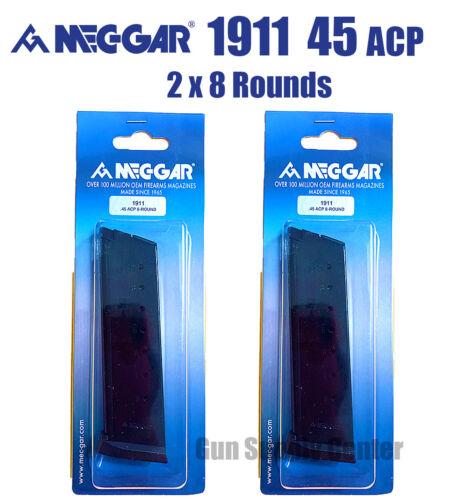 1911 .45 ACP MAGAZINE 8 Rd Mec-Gar Government Clip (Set Of 2) High Quality SAVE!