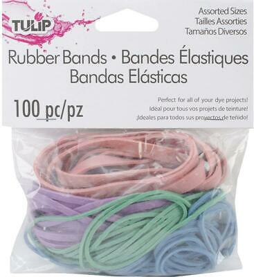 Tulip 100 Ct Latex Rubber Bands For Tie Dye Crafts Office