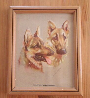 Alsatian Wolfhounds Vintage Mabel Gear Small Art Piece 3D German Shepard Dog for sale  Shipping to Nigeria