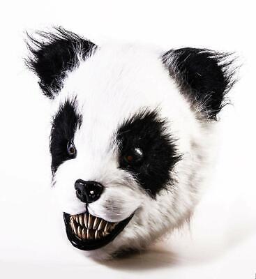 Scary Panda Bear Mask Wild Animal Fancy Dress Halloween Adult Costume - Scary Bear Costume