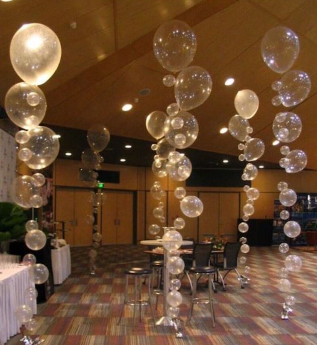 16 PC Clear Balloon Party Kit Bubbles Balloons, Under the Se
