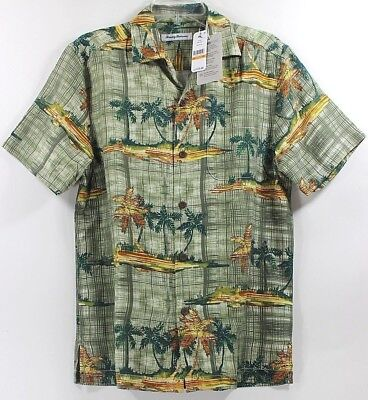 Silk Blend Camp Shirt - Tommy Bahama Zama Palms-Tea Leaf Island Zone Silk Blend Camp Shirt $135