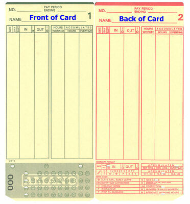 2000 Amano Mjr-7000 Time Clock Cards 0-99 Microder Mjr-7000 000-099