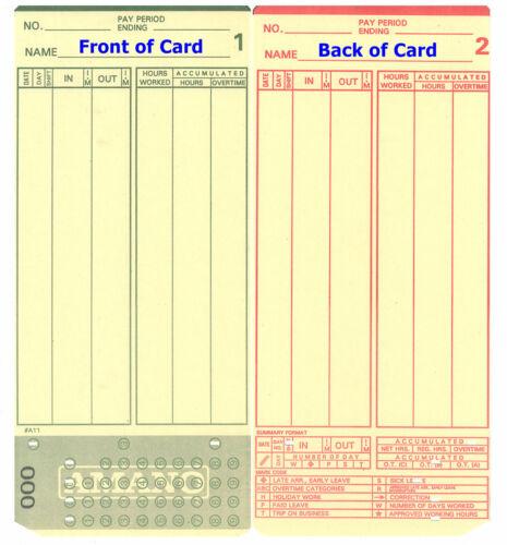 2000 AMANO MJR-7000 TIME CLOCK CARDS # 0-99 (Microder MJR-7000 000-099)