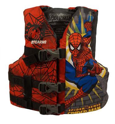 Spiderman Spider-Sense Child Life Jacket Ski Vest from Stearns (30-45 lbs) ~ NEW (Spider Man Water Sports Vest)