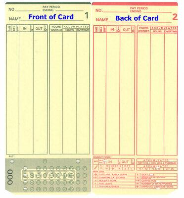 2000 Amano Mjr8000 Time Clock Cards Series 000-249 Mjr-8000 0-249