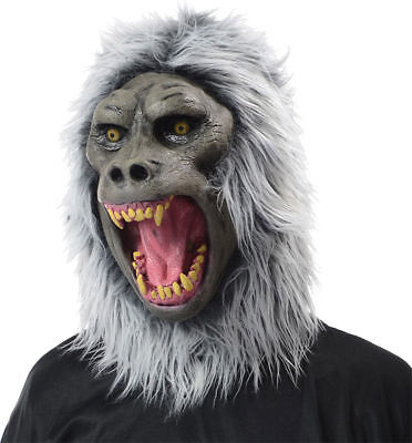 Morris Costumes Adult Unisex Full Head Baboon Latex Mask Gray One Size. MR135003](Baboon Costume)