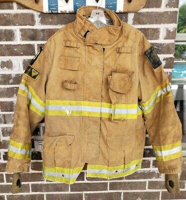 Firefighter Janesville Lion Apparel Turnout Commando Coat 50x32l Cmdm 2004 Used