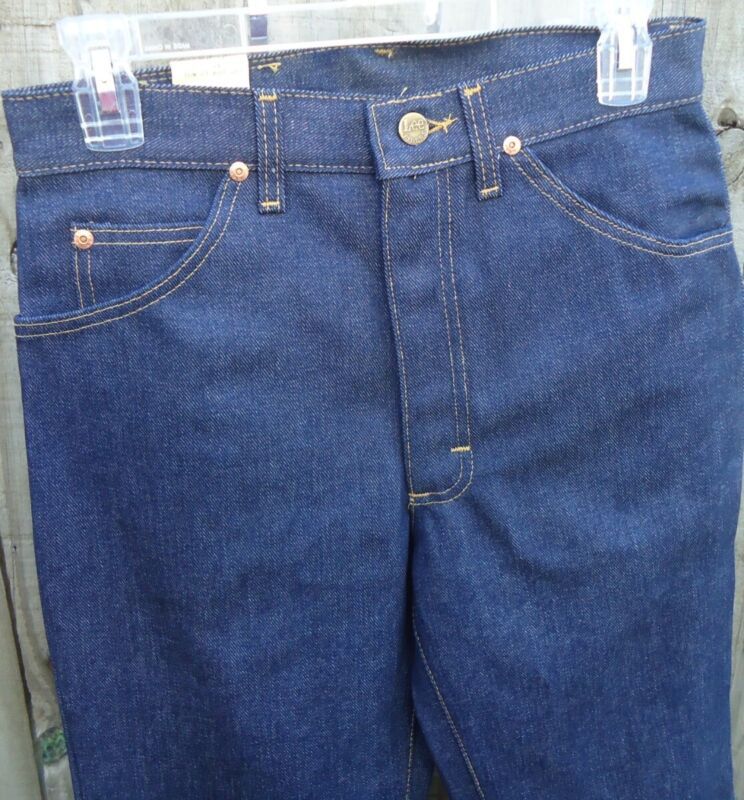 NOS Vtg 60s Lee Riders Bell Bottom Lee Set Jeans 25/30 Sanforized Denim