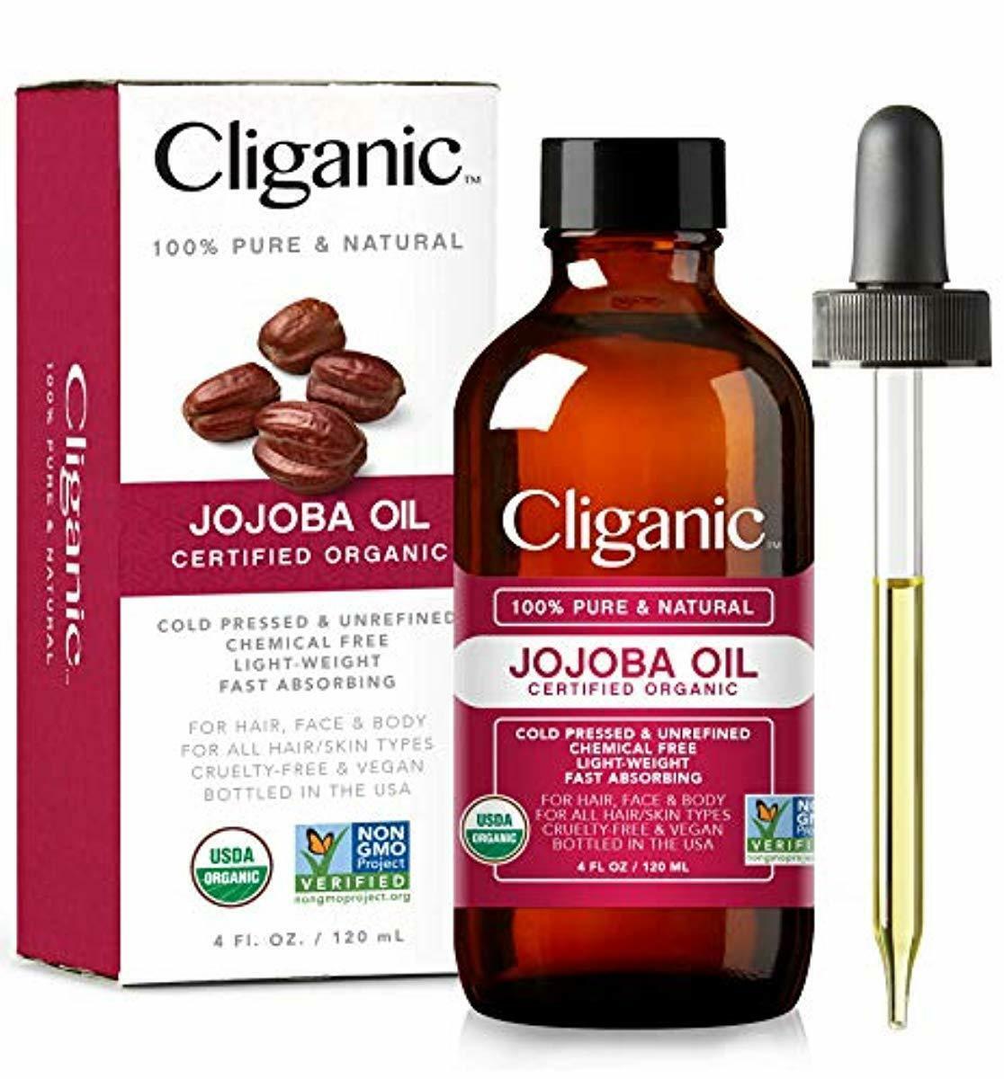 Cliganic USDA Organic Jojoba Oil, 100% Pure  | Natural Cold