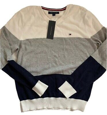 NEW Tommy Hilfiger Men's Long Sleeve V-Neck Sweater Top Shirt sz Small