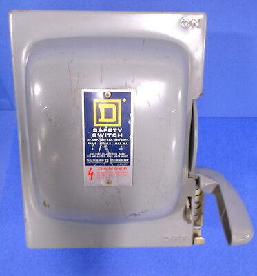 Square D Safety Disconnect Switch 30 Amp 240 Vac 125250v