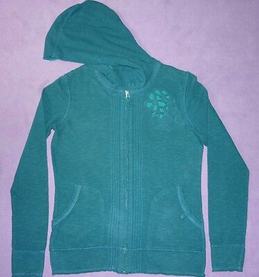 George Teal Jade Green Soft Handle Cotton Two Pocket Zip Hoody Sweat Top 8 S 36