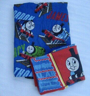 Thomas the Tank Toddler Sheet Pillowcase Train Engine Percy James Gordon 2Pc Set