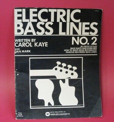 Electric Bass Lines No. 2 Book