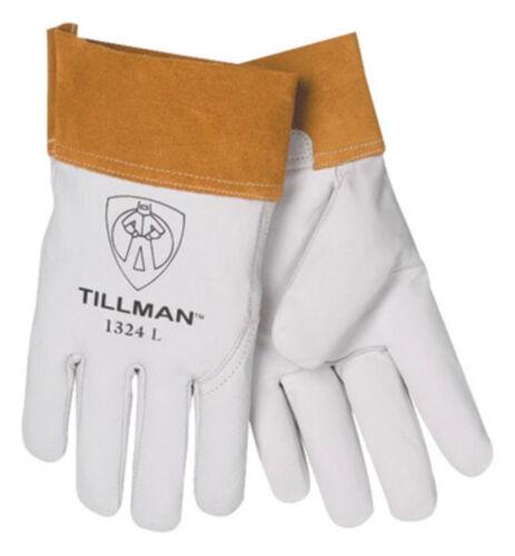 "Tillman 1324 2"" cuff Welding Kidskin Goatskin Leather TIG Gloves S MED LG XL"