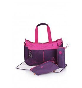 okiedog Metro Baby Diaper Bag, Mondrian purple pink straps