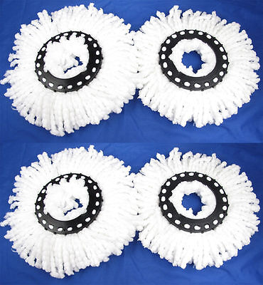 4 Replacement Microfiber MopHead Refill For Hurricane 360° Spin Magic mop Head