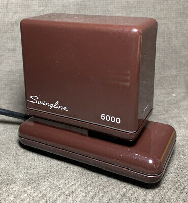 Vintage Swingline 5000 Electric Stapler Heavy Duty Tested Works Brown Man Cave